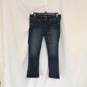 American Eagle Artist Crop Stretch Capri Jeans 6